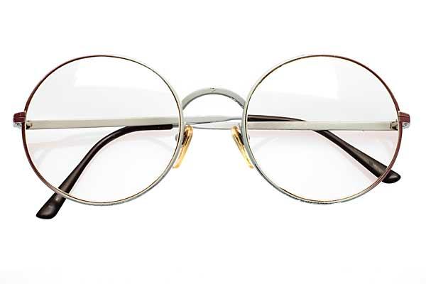 pas cher pour réduction 5683b e9e69 Petites lunettes rondes avec dégradé prune-blanc